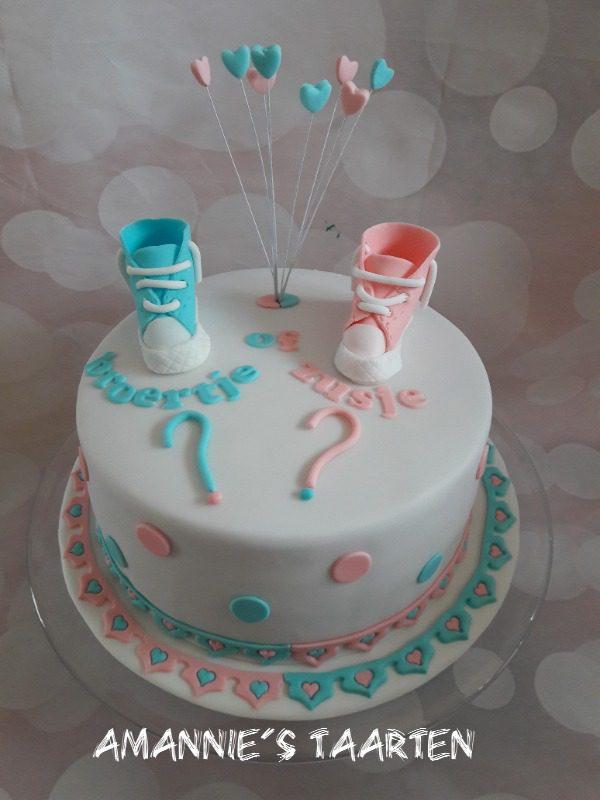 taart gender reveal - amannie's taarten